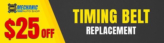 $25 OFF TIMING BELT REPLACEMENT